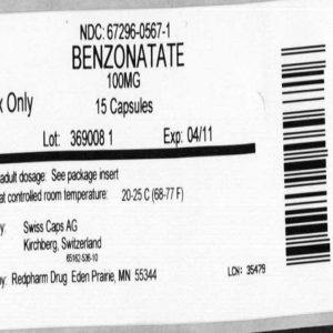 benzonatate 100mg capsule